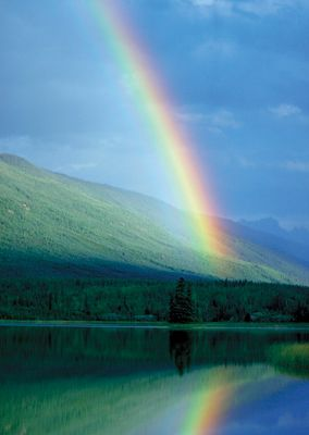 Rainbow #postcards