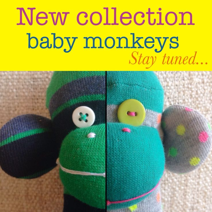 Handmade monkey dolls usually have unique faces and body characteristics and are considered one-of-a-kind. Stay tuned for our new collection which is full of striped and polka dots monkeys!