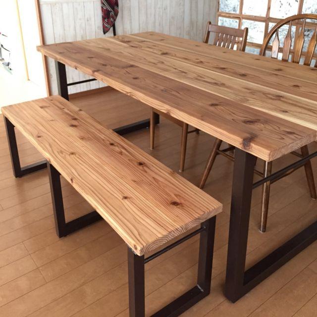 ユーズド感がたまらない!足場板で床もテーブルもお家まるごとDIY ... 木の質感を楽しんで