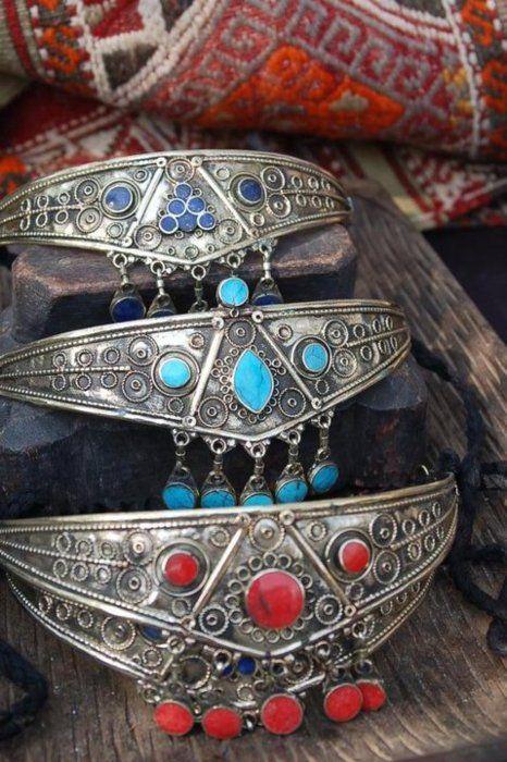 Afghan traditional head jewellery