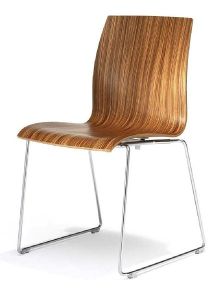 The Kusch Trio Sled features a comfortable moulded wooden seat shell, and tubular steel sled frame. A strong sturdy chair with a simple refreshing design suited for lunch rooms and auditoriums, offices and meeting rooms  #seated #kuach #trio #sled seated.com.au