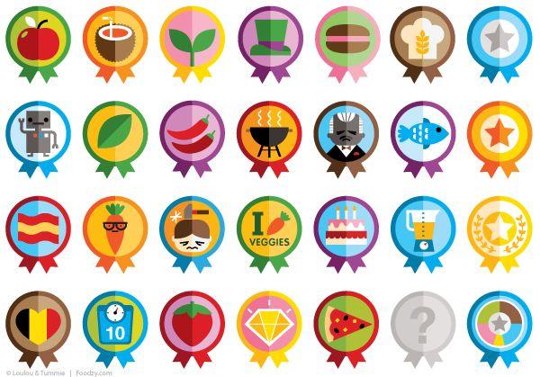 Icons & Badges on Behance