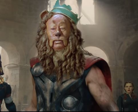 "Thor/The Cowardly Lion. | This ""Avengers"" And ""Wizard Of Oz"" Mashup Is The One Thing You Must Watch Today"