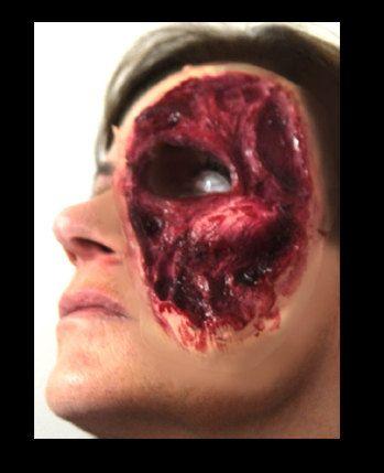 FLESH'N'BONES ZOMBIE Makeup Latex Prosthetic by JaneDoeFX on Etsy, $9.99