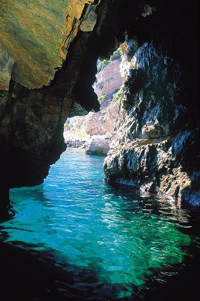 Green Grotto, Capri, Italia -- swam through this beautiful grotto. Beautiful Island!