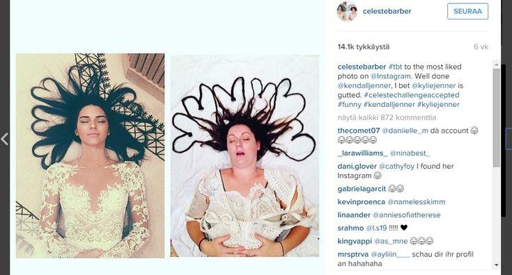Naiskoomikko tekee omia versioita julkkisten Instagram-julkaisuista - katso hauskat kuvat