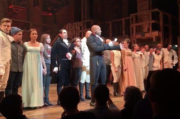 """Mike Pence Went To See """"Hamilton"""" And The Cast Had A Message For Him - BuzzFeed News"""