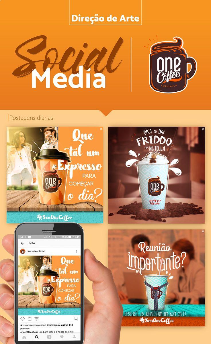 Trabalho desenvolvido pela equipe Moema para as redes sociais do Cliente One Coffee Cafeteria envolvendo postagens de cunho institucional, promocionais, lançamento de produtos e fotografia.