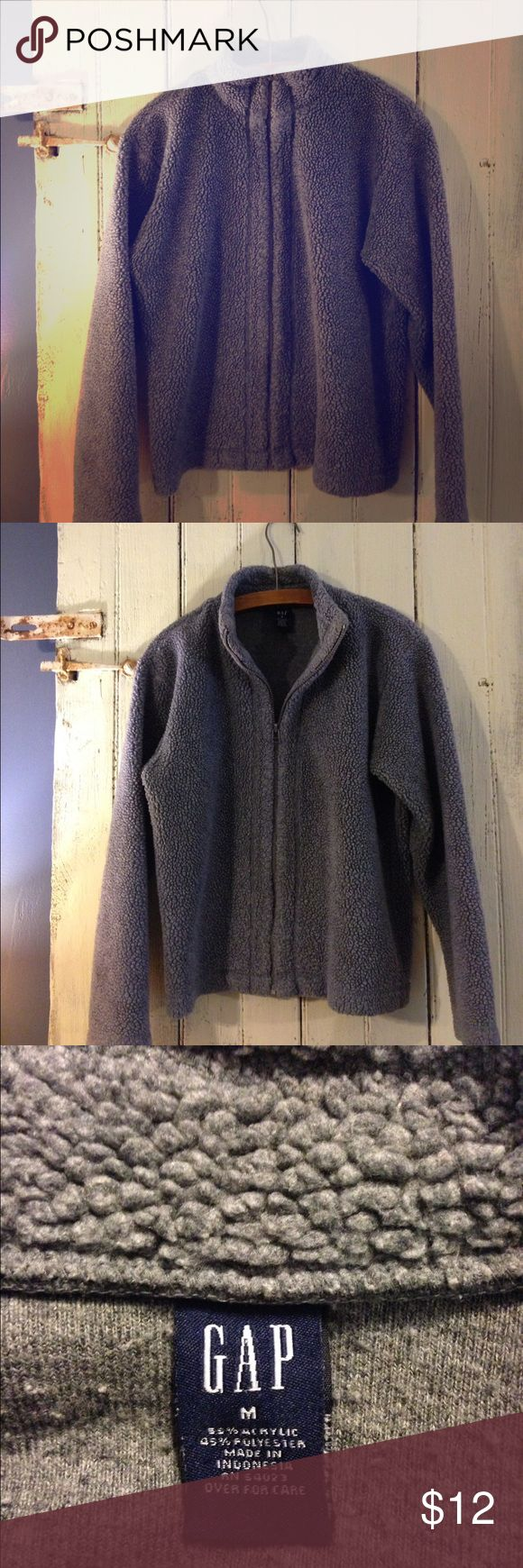 "Gap jacket Grey ""wooly"" like jacket from the Gap. Perfect for cool fall days. GAP Jackets & Coats"