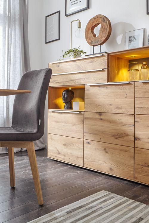 Die besten 25+ Highboard massivholz Ideen auf Pinterest - moderner landhausstil wohnzimmer