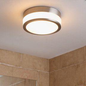 Łazienkowa lampa sufitowa FLAVI, matowy nikiel