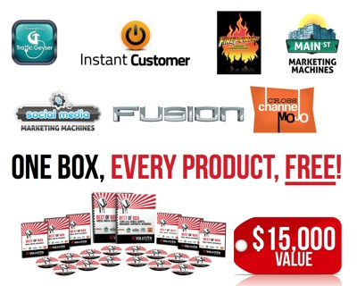 Instant Customer Revolution FREE GIFT ($ 15,000 Value)! One box for EVERY product Mike Koenigs has launched yours ABSOLUTELY FREE