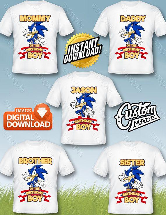 Sonic Family Iron On Transfer Sonic Family Birthday Shirt Diy Sonic Family Shirt Designs So Diy Birthday Shirt Family Birthday Shirts Custom Birthday Shirts