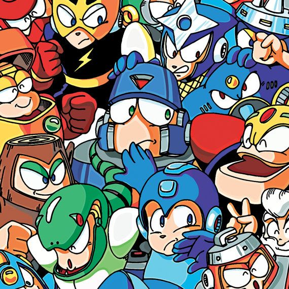 Mens T-shirt with characters from the first three Mega Man games, like Dr. Wily, Rush, Roll, Dr. Light, and Robot Masters.  Note: The product image above is a mockup. Actual colors may vary slightly or look darker.  ---  • Brand: American Apparel (Made in the USA) • 100% cotton (except heather colors, which are 90% cotton/10% polyester) • Slim fit, fine jersey • Double stitched • Soft, smooth, and light • Fabric weight 4.3 oz/yd²  ---  Measurements  X-SMALL Chest: 30-32″   Waist: 28...