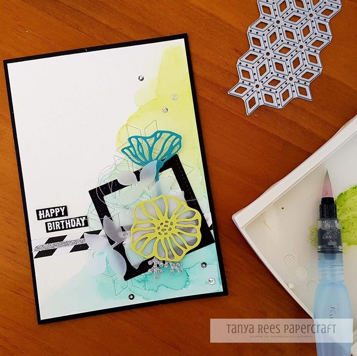 Tanya Rees Papercraft -Stampin' Up!  Just love the combination of watercolouring and Eclectic layers