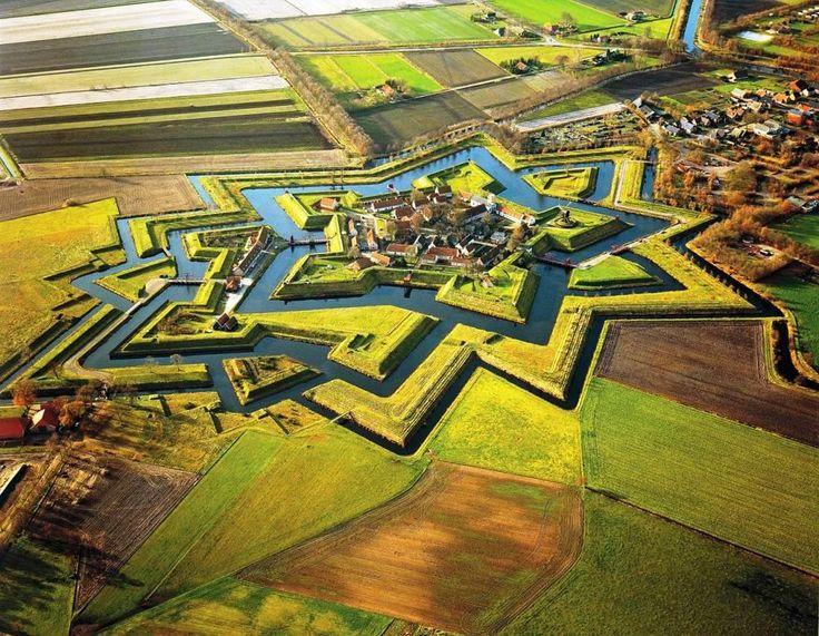 The Netherlands Star Fort - Fort- Bourtange, Groningen, Netherlands
