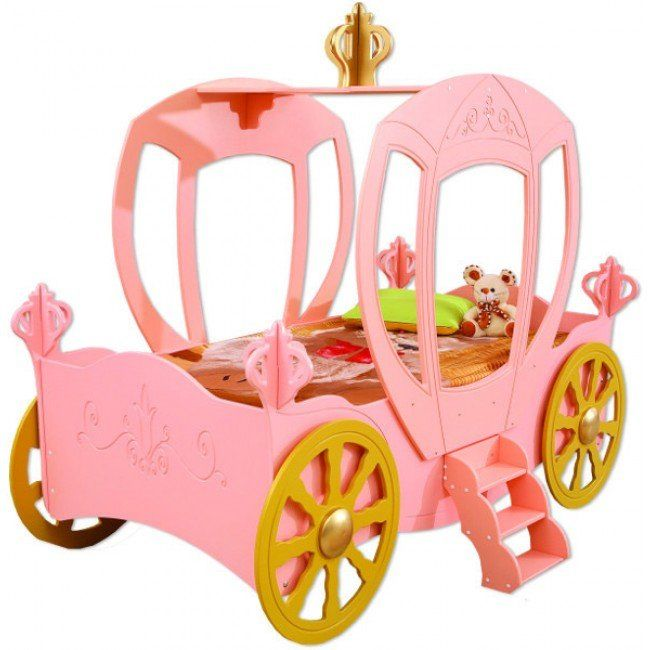 Princess Carriage Toddler Car Bed With Images Toddler Car Bed
