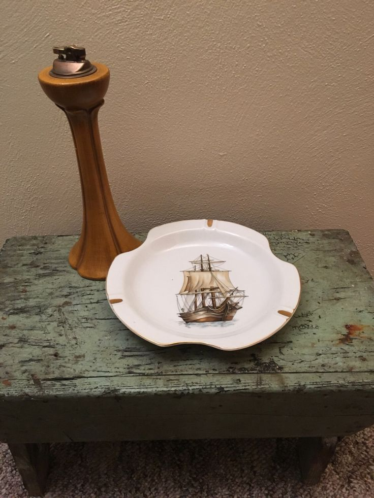 A personal favorite from my Etsy shop https://www.etsy.com/listing/484880036/vintage-sailing-ship-ashtray-boat
