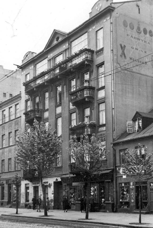 Warszawa - dom nr. 7 przy ulicy Wolskiej (2 poł. lat 30-tych).