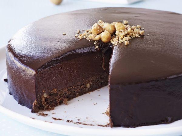Driedubbele chocoladetaart