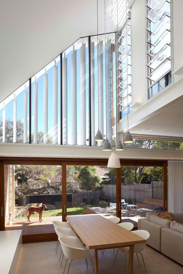 Gorgeous house and a fine canine. Wood And Transparence Gorgeous Modern Residence Displaying a Interesting Asymmetrical Facade in Sydney