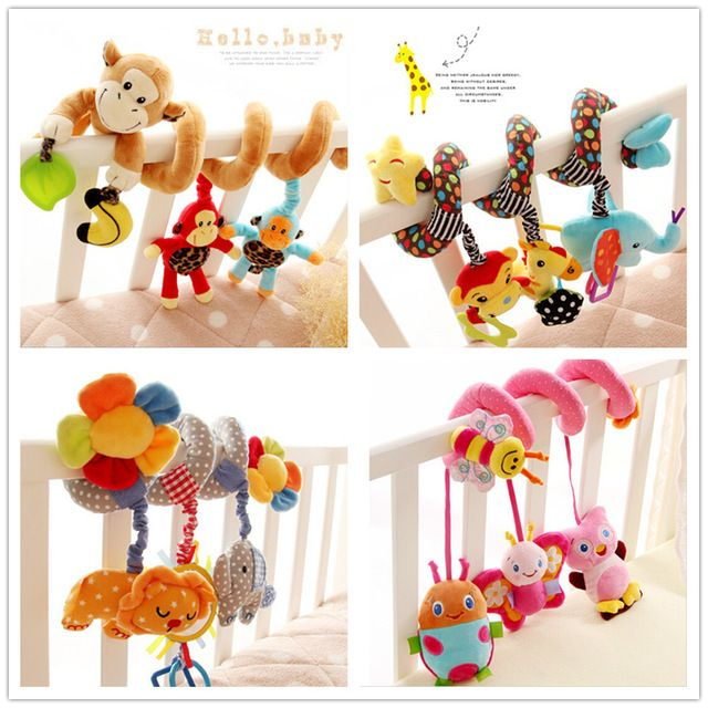 Multi-estilo cochecito sonajero juguetes para bebés cama multifuncional colgando campana de aprendizaje y educación juega para 0-12 meses de regalos WJ136