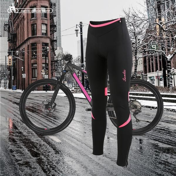 #BlackFriday is coming early #BestPrice #CyberMonday Santic Women Cycling Fleece Padded Pants Winter 4D Cushion Pad Reflective Bike Thermal…