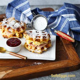 Monte Cristo Waffle Breakfast Sandwich