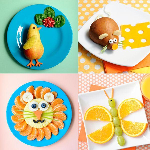 Recetas para niños, ¡fruta divertida! Recetas para niños, ¡fruta divertida! Recetas divertidas con frutas: os enseñamos a hacer un león, un pollito, un ratón, una mariposa y otros animales con fruta.