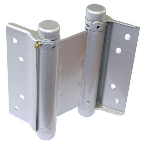 "DoorHandleParts - Double Action Spring Hinges Silver Lacquered Finish 3"",4"",5"" or 6"", £9.99 (http://www.doorhandleparts.com/double-action-spring-hinges-silver-lacquered-finish-3-4-5-or-6/)"