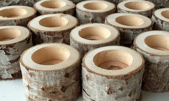New  Tree Branch Candle Holders   Set of 50  Wood Candle