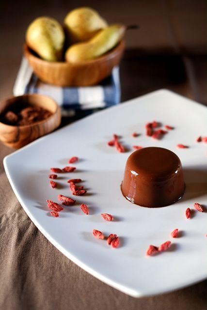 Budino semplicissimo di pere e cacao