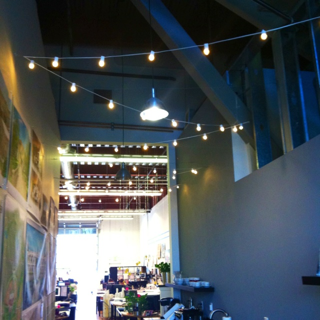 Roping Arena Lights: New String Lights In The Office!