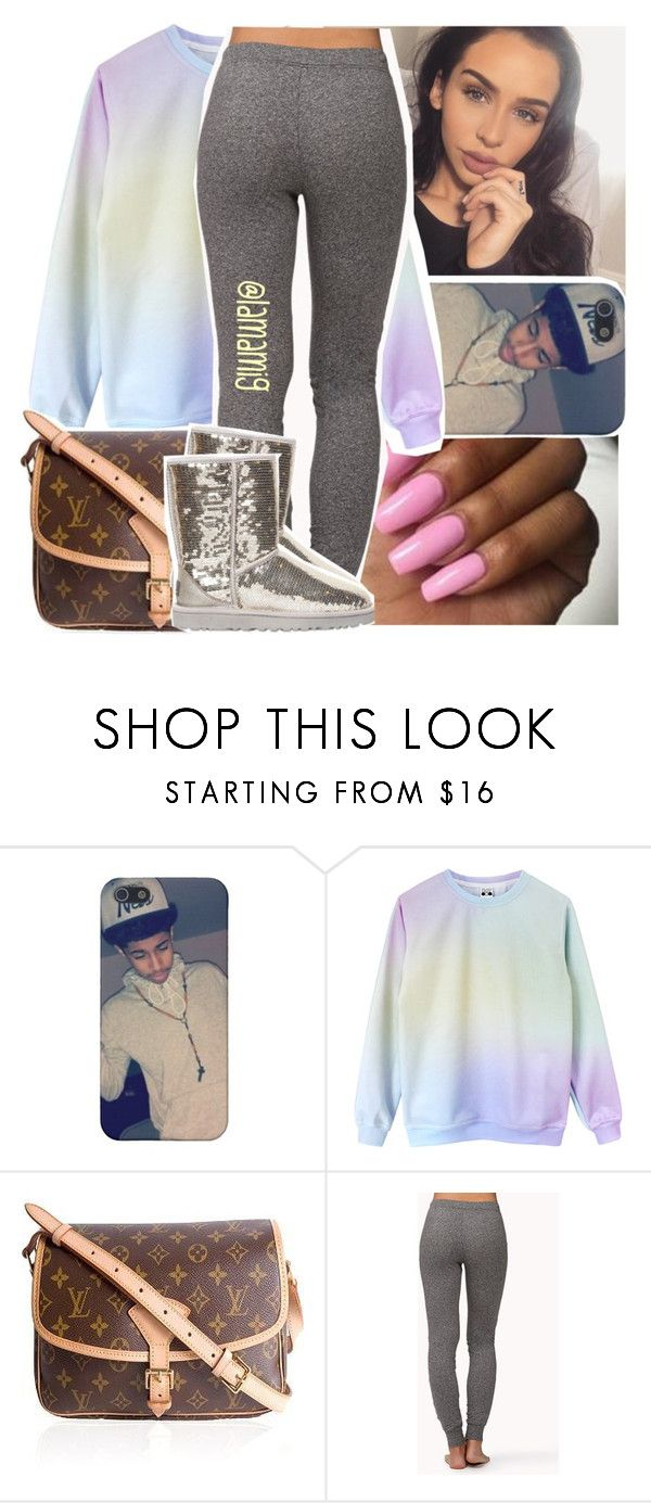 """""""the raining of equations for you to solve em"""" by lamamig ❤ liked on Polyvore featuring Louis Vuitton, Forever 21 and UGG Australia"""