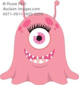 one eyed Girl Monster
