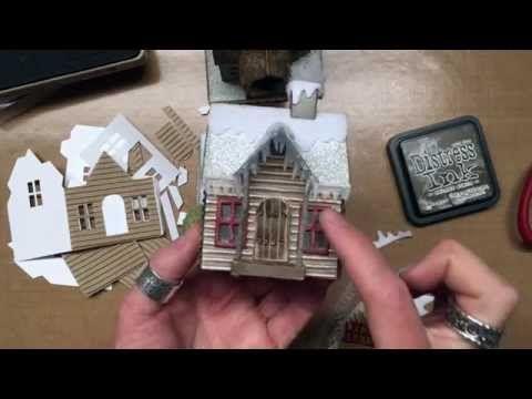 Tim Holtz Sizzix Village Winter - YouTube