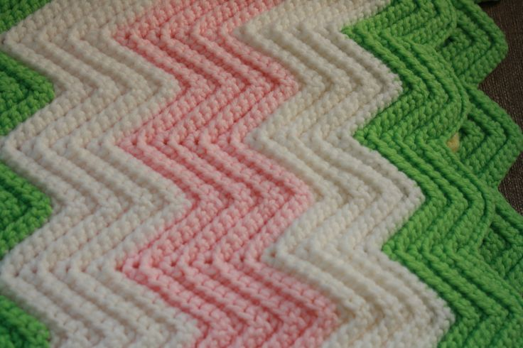 New to KLizVintage on Etsy: Vintage Crochet Blanket.  Pink Green and Yellow Small Crocheted Afghan. Handmade Baby Blanket Crocheted Throw. Vintage Off White Blanket. (23.00 USD)