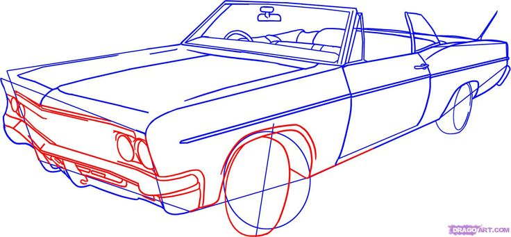 How to Draw a Lowrider, Step by Step, Cars, Draw Cars Online ...
