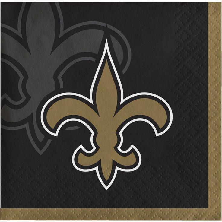 Creative New Orleans Saints Beverage Napkins, Case of 192