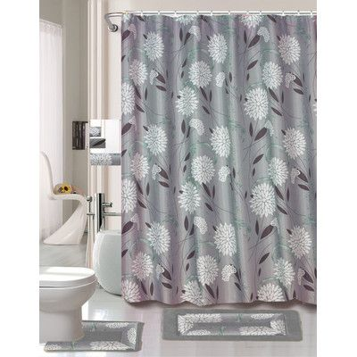 Daniels Bath 18 Piece Shower Curtain Set