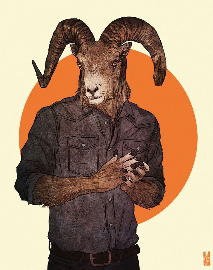 Rocky Mountain Bighorn Sheep by Zarnala.deviantart.com on @deviantART
