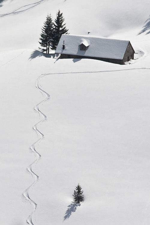 snow and house photography