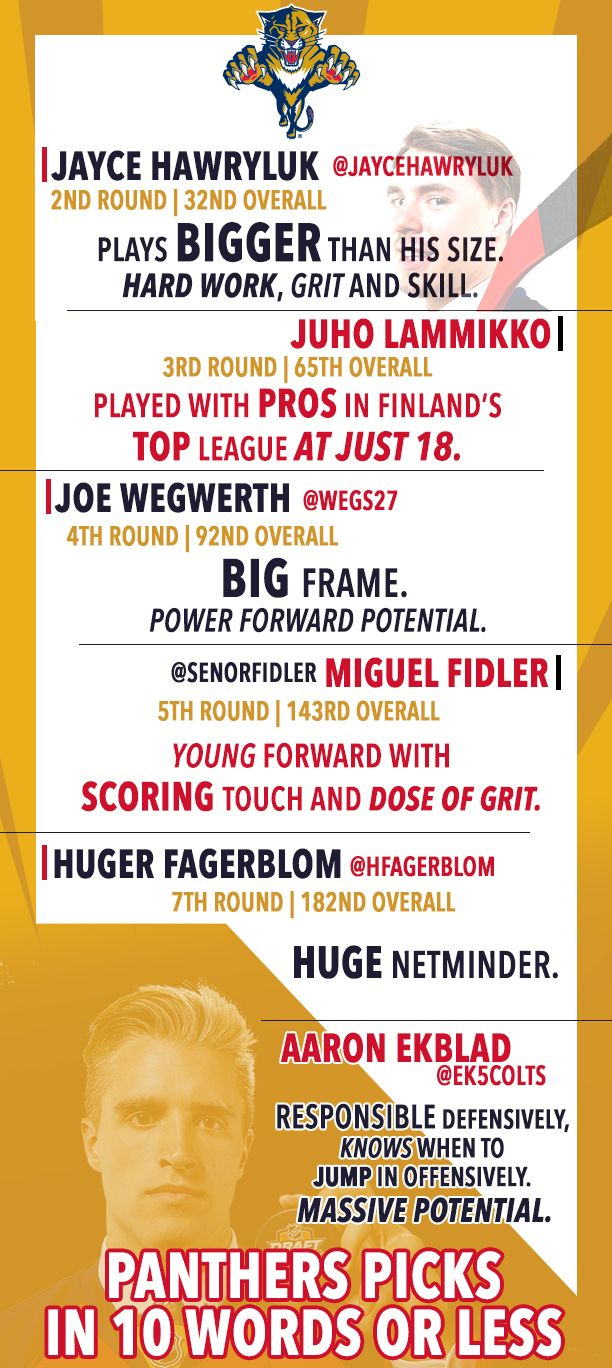 Panthers Picks--in 10 Words Or Less [Infographic] - Florida Panthers - News