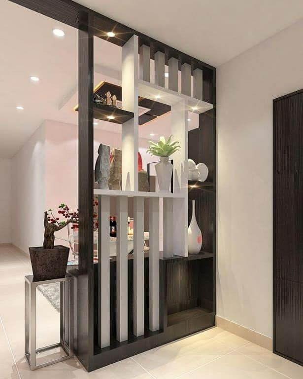 30 Best Modern Room Divider Design Ideas To See More Read It Di 2021 Gaya Ruang Tamu Desain Interior Desain Partisi Ruang Tamu