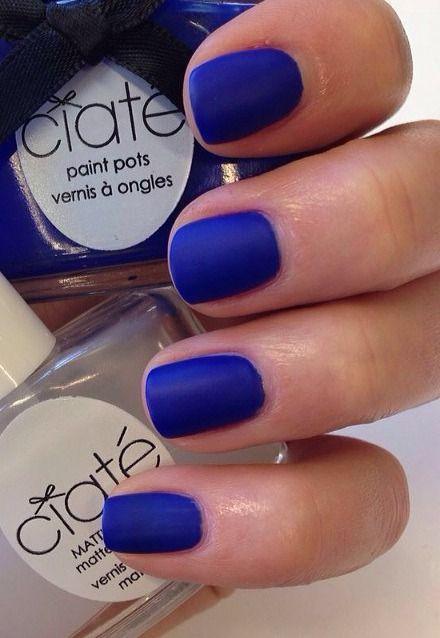 Blue Nail Polish - Summer Nail Design Inspiration