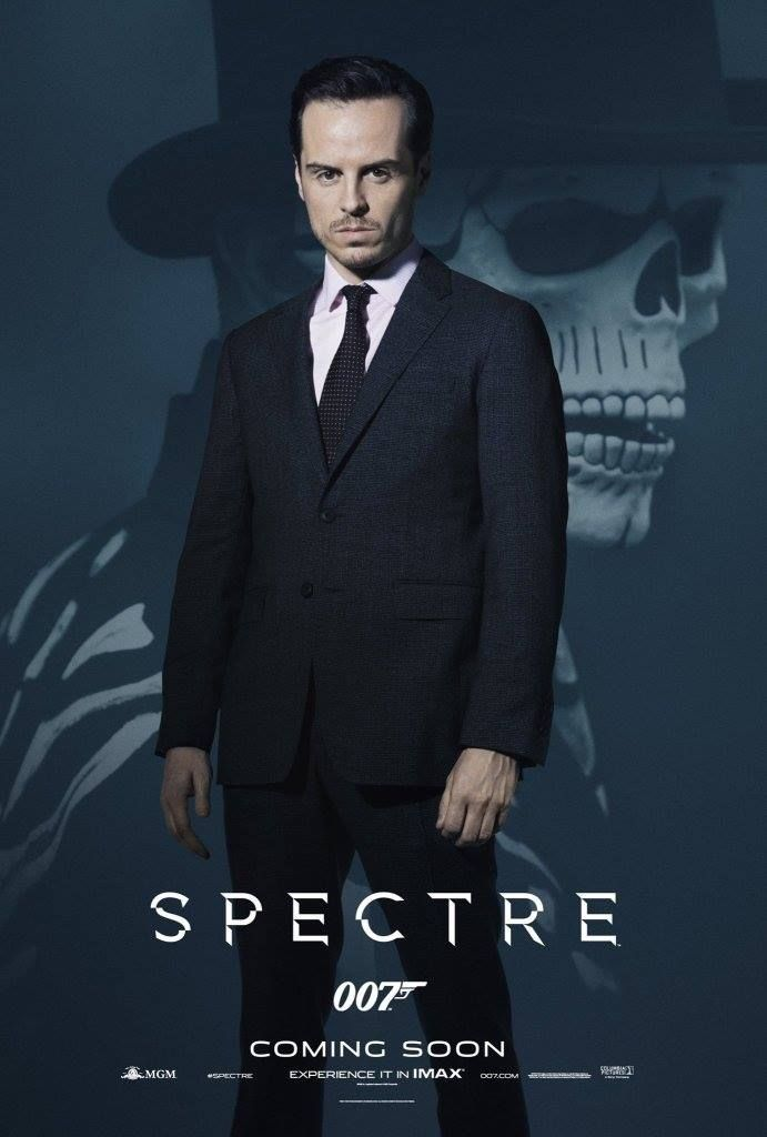Spectre promo poster, Andrew Scott looking mean and HOT!