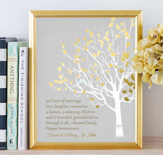 Golden Wedding Anniversary Gift Ideas For Parents : ideas about Golden Anniversary Gifts on Pinterest Golden wedding ...