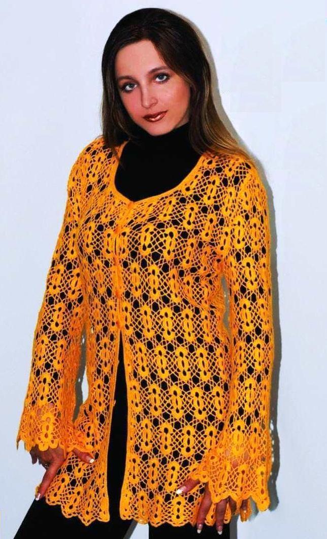 Motif Jacket free crochet pattern Crafts Pinterest
