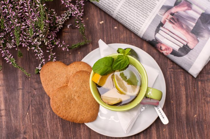 #tea #morning #newspaper #reading #cookie