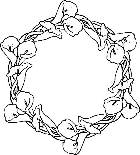 rose garland coloring pages - photo#1